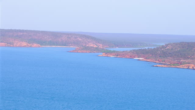 WS AERIAL View of sea / Darwin, Northern Territory, Australia