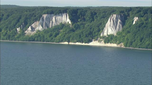 WS AERIAL View of sea shore / Ruegen, Mecklenburg-Vorpommern, Germany