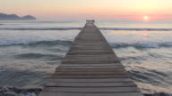 WS View of seascape and sunset / Muro, Mallorca Balearic Island, Spain