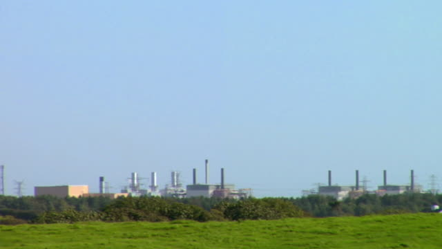 WS PAN View of sell afield nuclear power plant / Lake District, Cumbria, UK