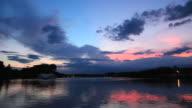 WS View of Senba lake at sunset / Mito, Ibalaki, Japan