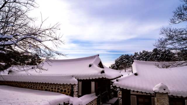View of Seongyojang House (former upper class residence) in winter