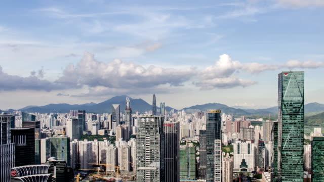 T/L WS ZO View of Shenzhen CBD skyline / Shenzhen,China