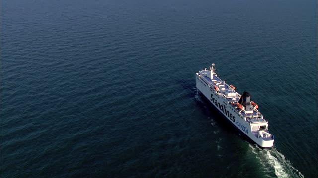 WS AERIAL DS View of ship / RuegenSassnitz, Mecklenburg-Vorpommern, Germany