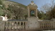 MS PAN View of shrine in desert / Real de Catorce, San Luis Potosi, Mexico