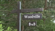 MS View of signs board / Cromdale, Speyside, Scotland