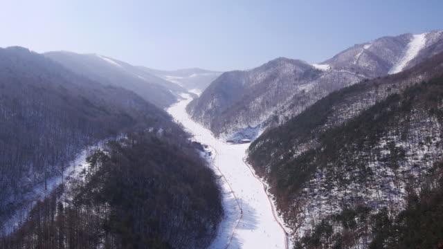View of ski resort at mountains