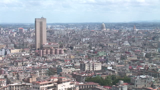 WS View of skyline with Capitol / Havana City, Havana, Cuba