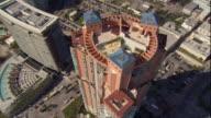 WS POV AERIAL View of skyscraper with swimming pool / Miami, Florida, USA