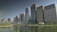 WS View of skyscrapers at Abu Dhabi / Abu Dhabi, Abu Dhabi, United Arab Emirates