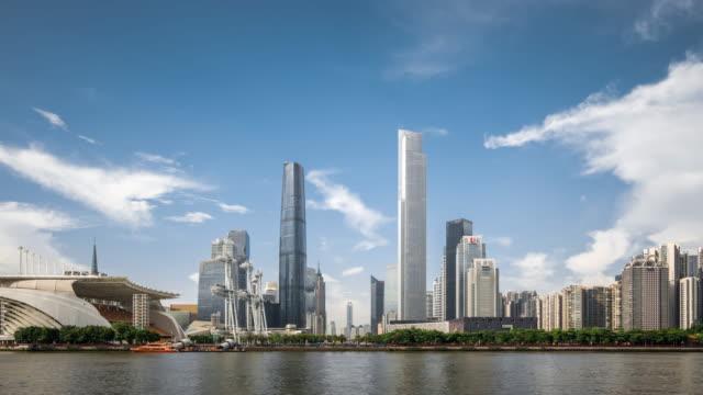 T/L WS ZI View of Skyscrapers in Zhujiang New Town / Guangzhou, China