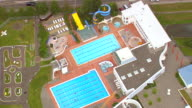 WS AERIAL View of slides with swimming pool / Iceland