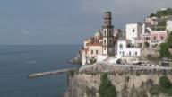 WS View of small cityscape at Amalfi coastf / Atrani, Campania, Italy