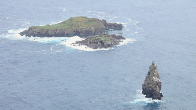 WS View of small mountain in sea Easter Island / Rapa Nui National Park, Easter Island, Chile