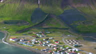 WS AREAIL View of Small town / Iceland