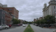 WS View of small town street / Harrisburg, Pennsylvania, United States
