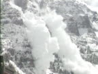 WS ZO View of snow avalanche / Colorado, USA