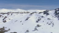 WS AERIAL View of snow covered mountain / Kings Cliff, New South Wales, Australia