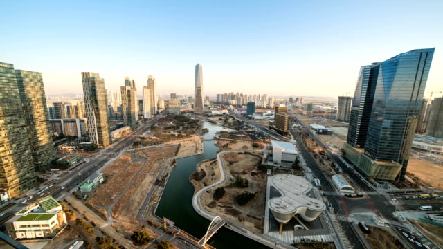 View of Songdo International Business District (A new smart city or 'ubiquitous city' of South Korea)