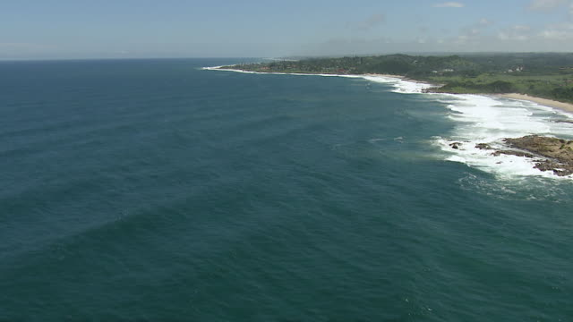 WS AERIAL View of South Coast of Durban / Durban, Kwazulu Natal, South Africa