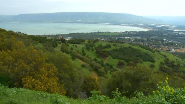 WS View of Southern Sea of Galilee and Jordan Valley / Galilee, Israel