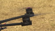 View of spinning propeller of Drone(Unmanned Aerial Shooting Equipment)