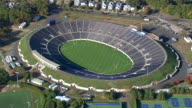 WS AERIAL ZI TU View of sports stadiums at Yale University / Connecticut, United States