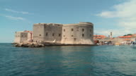 WS View of St. John's Fortress and marina entrance from water/ Dubrovnik, Dalmatia