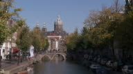 WS View of St Nicolaas Kerk in front of Leidsegracht canal / Amsterdam, Northern Holland, Netherlands