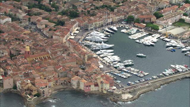 AERIAL, View of St Tropez, Provence-Alpes-Cote d'Azur, France