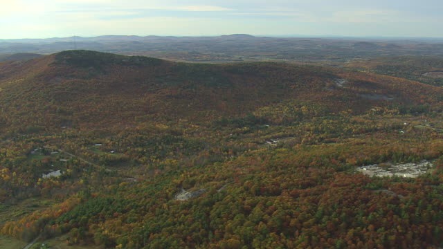 WS AERIAL View of state park / Maine, United States