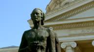 MS ZO  View of Statue of romanian poet mihai eminescu/ Bucharest, Romania