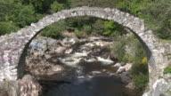 MS View of stone bridge / Carrbridge, Perth and Kinross, Scotland