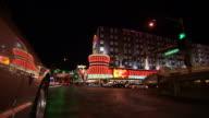 WS POV View of street at night / Las Vegas, Nevada, United States