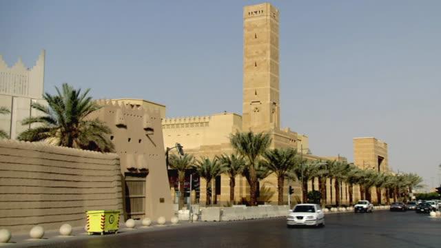 WS View of street scene in Riyadh / Riyadh City, Riyadh, Saudi Arabia