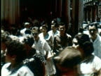WS View of street with people  Audio / Havana, Cuba