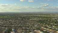 WS AERIAL ZI View of Sun City houses / Phoenix, Arizona, United States