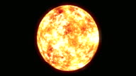WS View of Sun with glow around surface on keyable backdrop / Montreal, Quebec, Canada