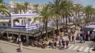 WS PAN View of Sunday market at Estepona Port at Costa del Sol / Estepona,Espana, Malaga, Spain