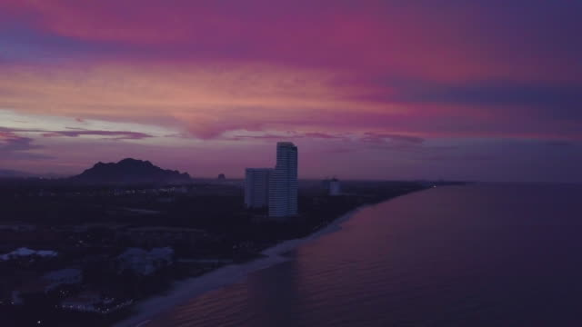 4K POV View of sunrise over ocean