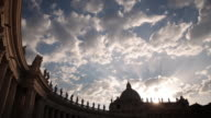 WS T/L View of Sunset at St. Peters Square / Rome, Lazio, Italy