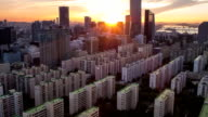 View of sunset at the International Financial Center in the Yeouido