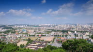 WS T/L View of suwonhwasung castle area and city / Suwon, Kyonggi-Do Province, South Korea
