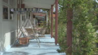 MS View of Swingbench Outside Holiday Apartment / Keeling, Shire of Cocos, Australia