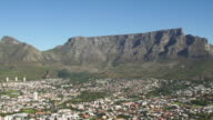 WS HA View of Table mountain with city lying in foothill / Cape Town, Western Cape, South Africa