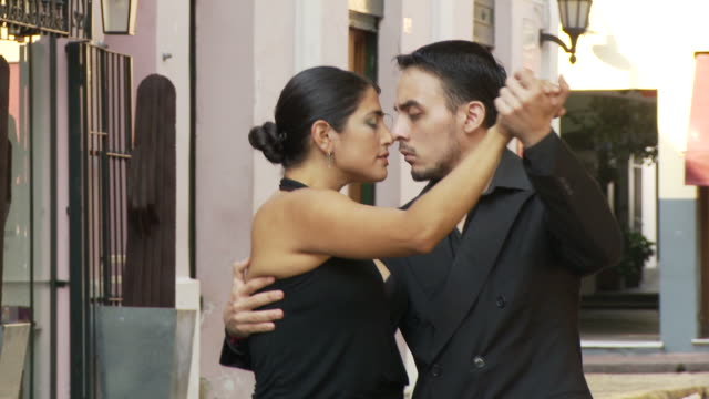 View of Tango Dancers in Buenos Aires, Argentina