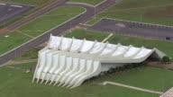 WS AERIAL View of Teatro Pedro Calmon / Brasilia, Brazil