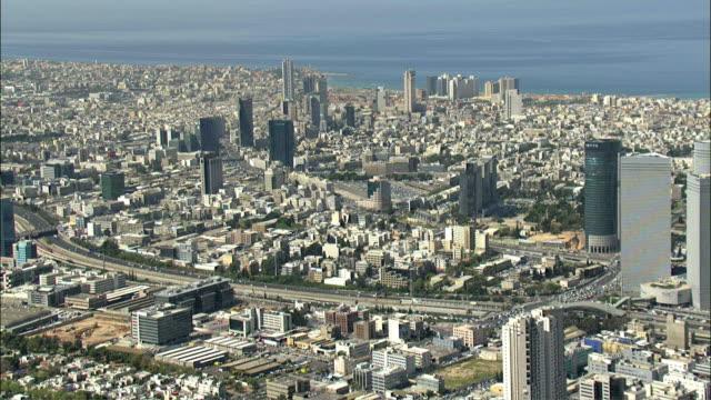 AERIAL View of Tel Aviv / Israel