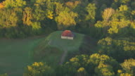 WS AERIAL ZI View of Temple Mound at Moundville Archaeological Park / Alabama, United States