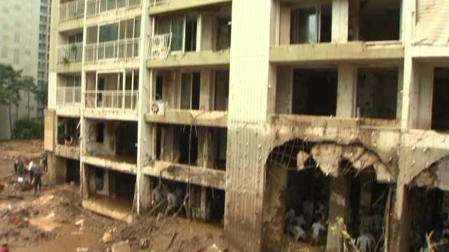 View of the apartment that damaged by landslide